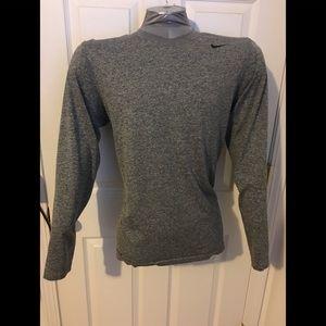 Nike long sleeve dry fit running shirt